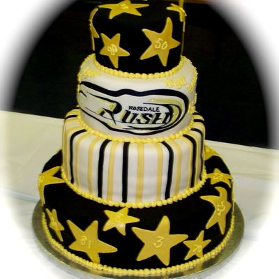 "Team ""rush"" Jr. Bantam Ft. Ball Cake"