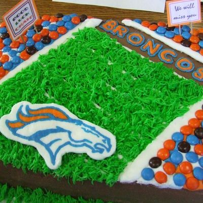 Broncos Going Away Cake