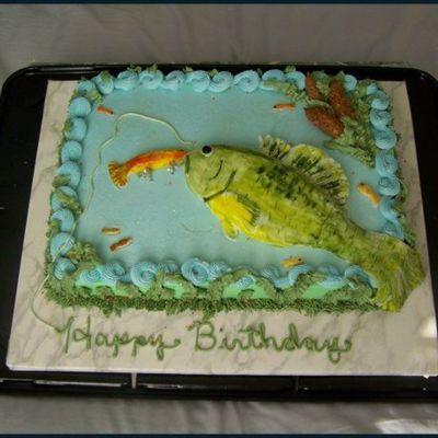 Fabulous Fishing Cake Decorating Photos Funny Birthday Cards Online Overcheapnameinfo