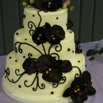 Antique Purple Orchid Wedding on Cake Central