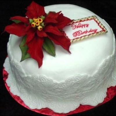 Lace And Poinsettia on Cake Central