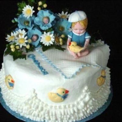 Baby Boy With Duck on Cake Central