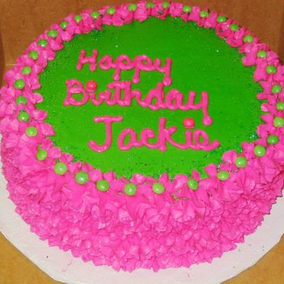 Pink & Green Cake on Cake Central