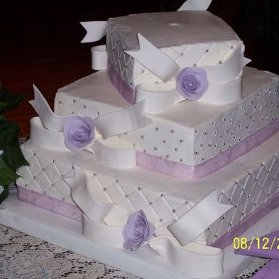 My First Wedding Cake! on Cake Central