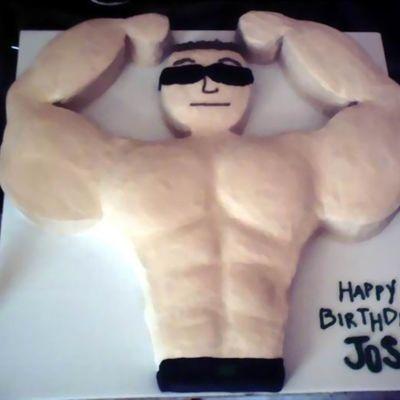 Prime Muscle Man Cake Decorating Photos Personalised Birthday Cards Xaembasilily Jamesorg