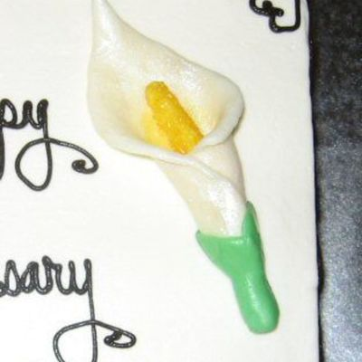 Chocolate Clay Calla Lily on Cake Central