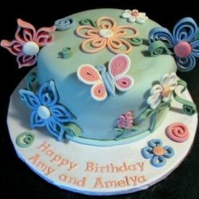 Quilling Birthday Cake on Cake Central