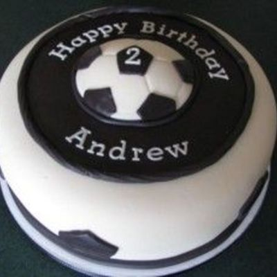 Soccer Cake For Child's 2Nd Birthday