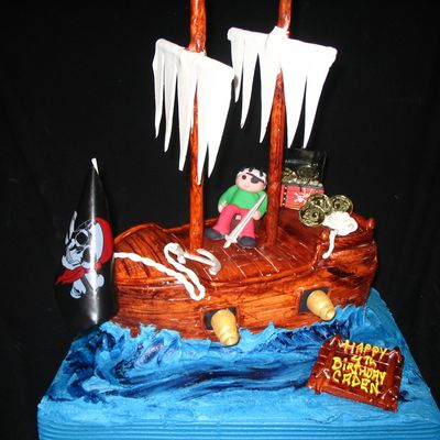 Pirate Cake on Cake Central