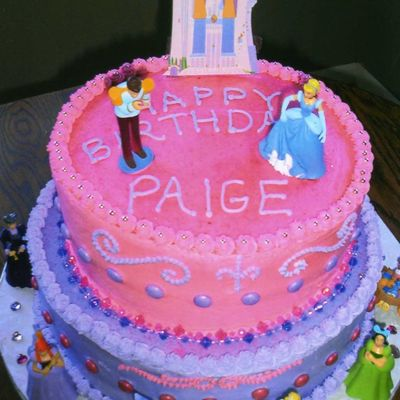 Peachy Cinderella Cake Decorating Photos Personalised Birthday Cards Veneteletsinfo