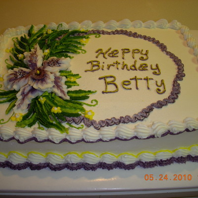 Orchid Birthday Cake