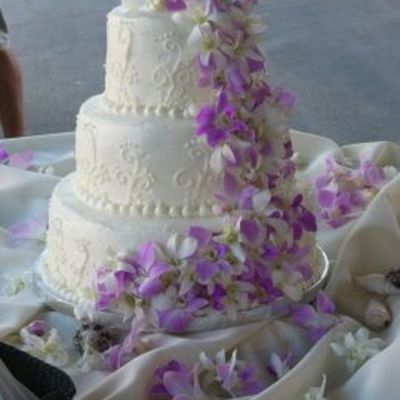 Tropcial Wedding Cake