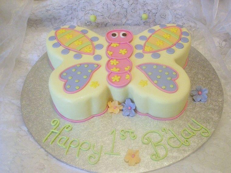 Peachy Butterfly 1St Birthday Cakecentral Com Birthday Cards Printable Benkemecafe Filternl