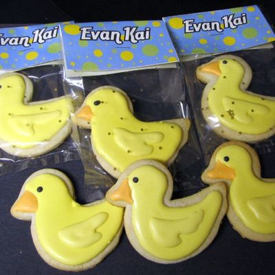 Baby Shower Rubber Ducky Cookies