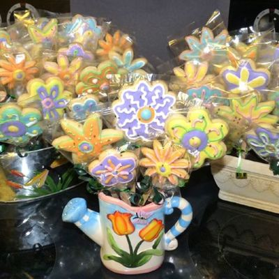 Flower Cookie Bouquets
