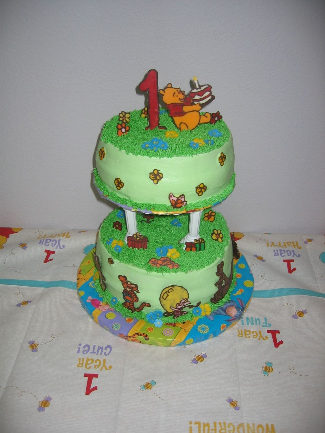 Pooh Cake Top View