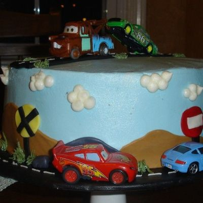 My Sons Cars Cake