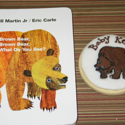 Eric Carle Baby Shower Cookies