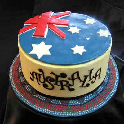 Australia Buttercream With Fondant Accents Cake