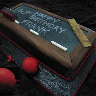 Black Board Chalk Board Teachers Cake