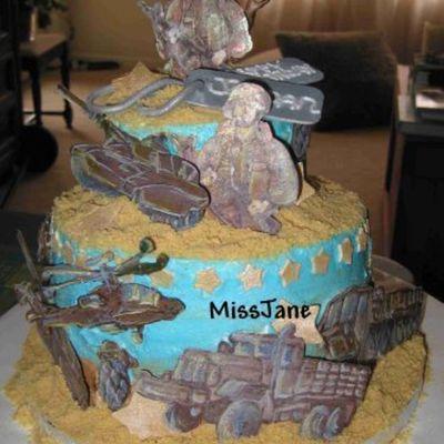 10 Year Old Boy Army Cake