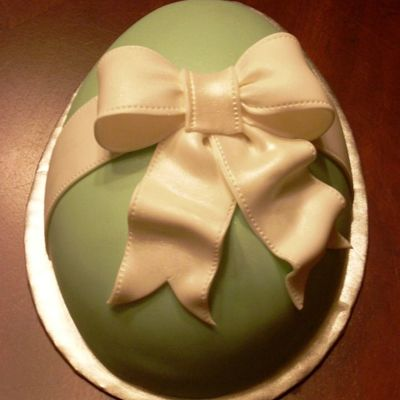 Sage Green Easter Egg on Cake Central