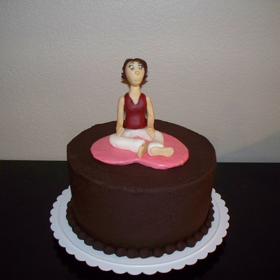Figure On Chocolate Cake