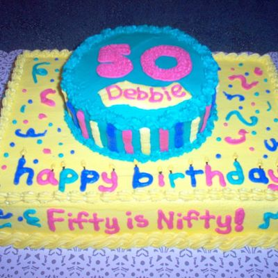 Fifty Is Nifty on Cake Central