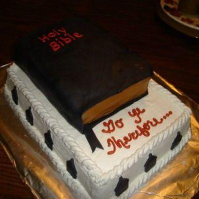 Bible Cake Decorating Photos