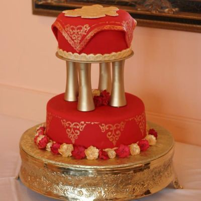 Asian Design Wedding Cake (Zhijun Li's Cake)