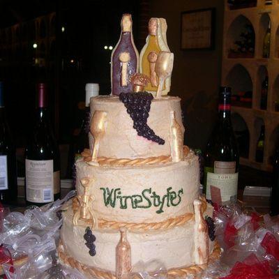 Wine Store Opening Cake