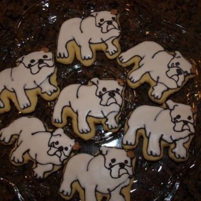 Bulldog Cookies