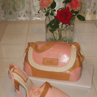 Purse-And-Shoe Cake For Daughter's 21St Birthday on Cake Central
