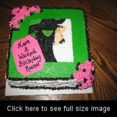 """wicked"" Birthday Cake"