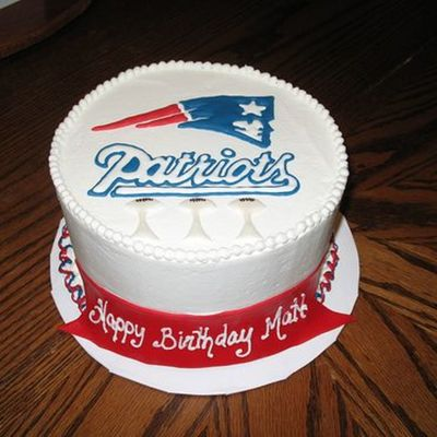 Patriot's Fan Birthday Cake