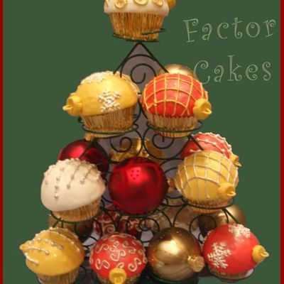 More Ornament Cupcakes