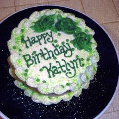 Green Birthday Cake on Cake Central