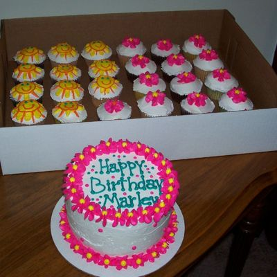 Tropical Cake And Cupcakes