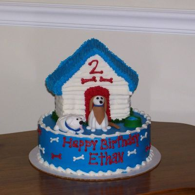 Puppy Cake With Dog House