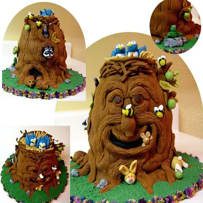 Enchanted Forest Tree Cake! on Cake Central