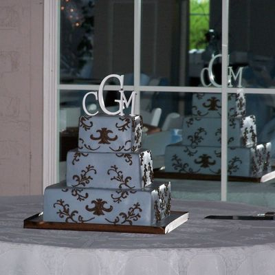 Blue / Brown Damask Wedding