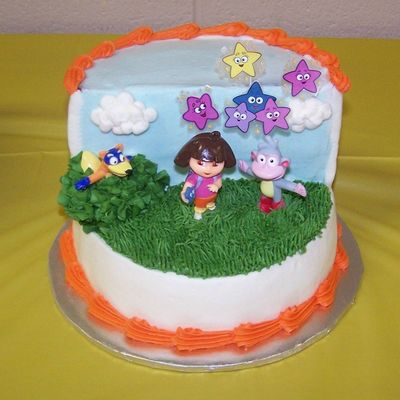 Dora The Explorer Smash Cake