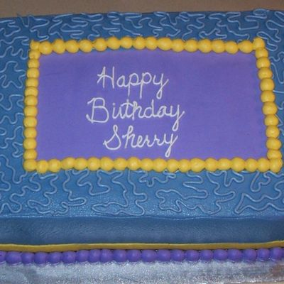 Sheet Cake For Sherry 2009