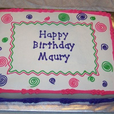 Funky Cake For Maury