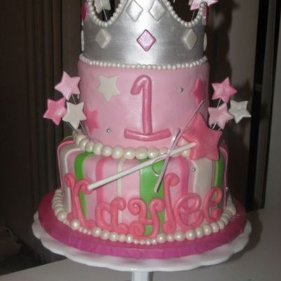 Princess Kaylee's First Birthday Cake