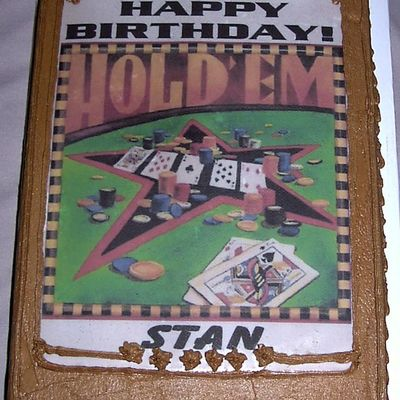 Texas Hold 'em Edible Image