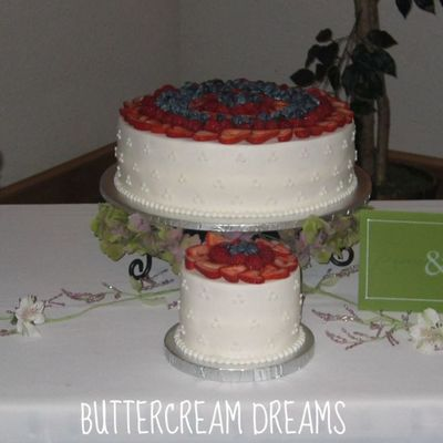 Berries And Cream Wedding Cake