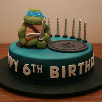 Magnificent Mutant Ninja Cake Decorating Photos Personalised Birthday Cards Petedlily Jamesorg