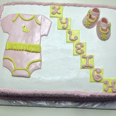 Baby Shower Onesie Cake