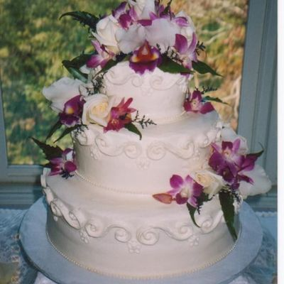 Buttercream Cake With Orchids on Cake Central
